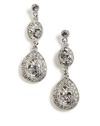 Givenchy | Metallic Pave Crystal Drop Earrings | Lyst