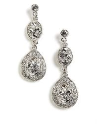 Givenchy - Metallic Pave Crystal Drop Earrings - Lyst