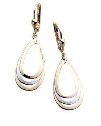 Lord & Taylor | Metallic 14k Two Tone Drop Earrings | Lyst