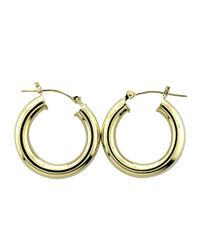 Lord & Taylor | 14k. Yellow Gold Polished Hoop Earrings | Lyst