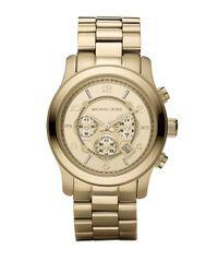 Michael Kors | Metallic Runway Goldtone Stainless Steel Chronograph Bracelet Watch for Men | Lyst