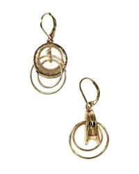 Anne Klein | Metallic Goldtone Interlock Hoop Earrings | Lyst