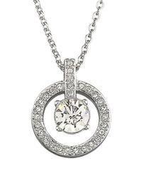 Swarovski | Metallic Lavender Crystal Pendant Necklace | Lyst