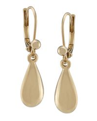 Lauren by Ralph Lauren | Metallic Goldtone Drop Earrings | Lyst