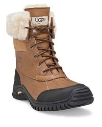UGG | Brown Adirondack Ii Lace-up Shearling-lined Leather Boots | Lyst