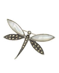 Lord & Taylor Metallic Sterling Silver And Marcasite Dragonfly Pin