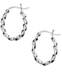 Lord & Taylor | Metallic Sterling Silver Twisted Hoop Earrings | Lyst