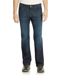 7 For All Mankind - Blue La Dark Wash Jeans for Men - Lyst