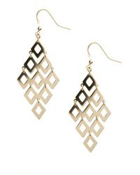 Lord & Taylor - Metallic 14 Kt Gold Over Sterling Silver Chandelier Earrings - Lyst