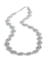 Nadri | White Crystal Stone Oval Link Necklace | Lyst