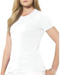 Lauren by Ralph Lauren | Black Plus Short-sleeved Crewneck T-shirt | Lyst