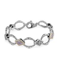 Effy Metallic Balissima Sterling Silver, Diamond And 18k Yellow Gold Bracelet