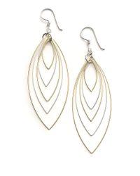 Lord & Taylor | Metallic Sterling Silver Orbital Wire Earrings | Lyst