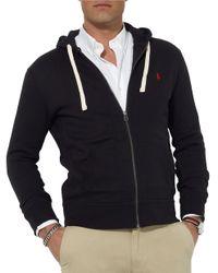 Polo Ralph Lauren   Black Full-Zip Fleece Hoodie for Men   Lyst