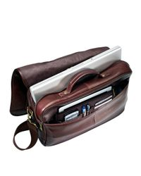 Samsonite   Brown Columbian Leather Flapover Briefcase for Men   Lyst
