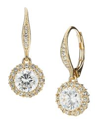 Nadri | Metallic Crystal Drop Earrings | Lyst