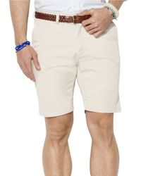 Polo Ralph Lauren | Natural Classic Fit Flat-Front 9 Inch Chino Shorts for Men | Lyst