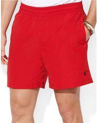 Polo Ralph Lauren | Red Hawaiian Solid Swim Boxer for Men | Lyst