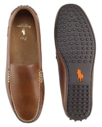 Polo Ralph Lauren Brown Woodley Leather Loafers for men