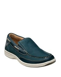 Florsheim | Blue Lakeside Leather Boat Shoes for Men | Lyst