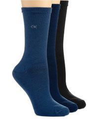 Calvin Klein | Gray Three Pack Soft Touch Socks | Lyst