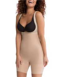 Spanx - Natural Plus Open-bust Shaping Bodysuit - Lyst
