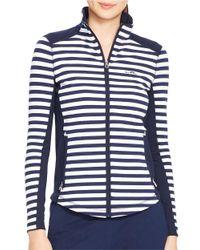 Lauren by Ralph Lauren | Multicolor Striped Track Jacket | Lyst