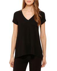 DKNY | Black Urban Essentials Short Sleeve Top | Lyst