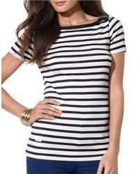 Lauren by Ralph Lauren | Multicolor Striped Bateau Shirt | Lyst