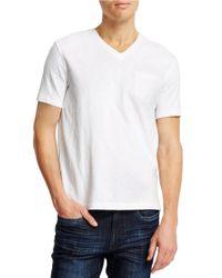Kenneth Cole | White Acid Washed Pocket T-shirt for Men | Lyst
