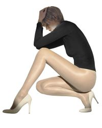 Wolford   Black Satin Touch 20 Tights   Lyst