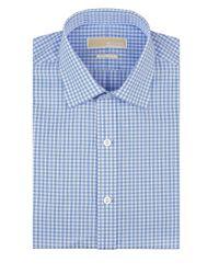 MICHAEL Michael Kors - Blue Checkered Dress Shirt for Men - Lyst