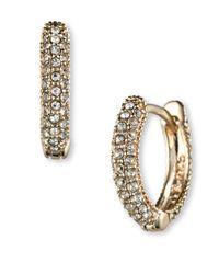 Judith Jack - Metallic Swarovski Crystal And Sterling Silver Hoop Earrings - Lyst
