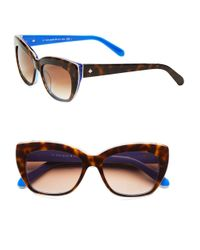kate spade new york | Brown 50Mm Crimson Small Cat Eye Sunglasses | Lyst