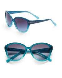 Vince Camuto | Blue 57mm Cats Eye Sunglasses | Lyst