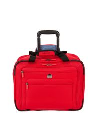 Delsey Red Helium Sky 2.0 Trolley Carry On Tote Bag