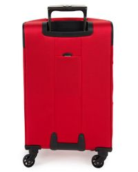 Delsey - Red Helium Sky 2.0 4-wheel Carry-on Spinner Trolley Bag - Lyst
