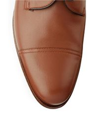 A.Testoni - Brown Cap-toe Leather Oxfords for Men - Lyst