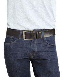 John Varvatos - Black Smooth Leather Belt for Men - Lyst