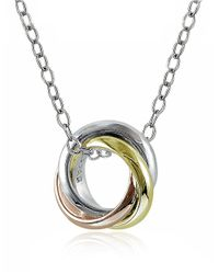 Lord & Taylor | Metallic Two-toned Pendant Necklace | Lyst