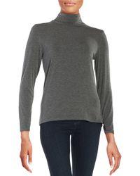 Calvin Klein Gray Asymmetric Hem Top