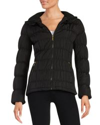 Calvin Klein - Black Down Puffer Coat - Lyst