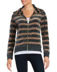 Calvin Klein | Natural Petite Cowlneck Zip-front Sweater | Lyst