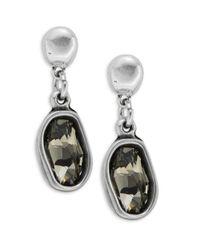 Uno De 50 | Gray Rhinestone Drop Earrings | Lyst