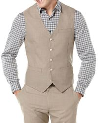 Perry Ellis | Natural Big And Tall Textured Suit Vest for Men | Lyst