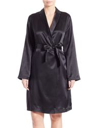 La Perla   Black Silk Robe   Lyst