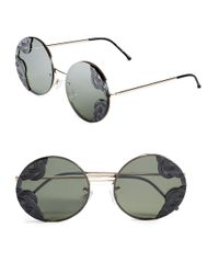 Spitfire | Black 53mm Textured Round Sunglasses for Men | Lyst