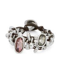 Uno De 50 - Pink Chica Mermelada Rhinestone Toggle Bracelet - Lyst