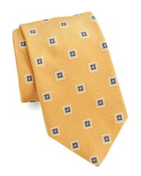 Brooks Brothers | Yellow Classic Square Medallion Tie for Men | Lyst