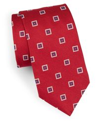 Brooks Brothers | Red Classic Geometric Silk Tie for Men | Lyst